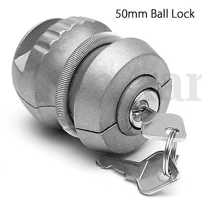 Insertable Hitchlock Trailer Coupling Hitch Ball Lock Tow Caravan For Security