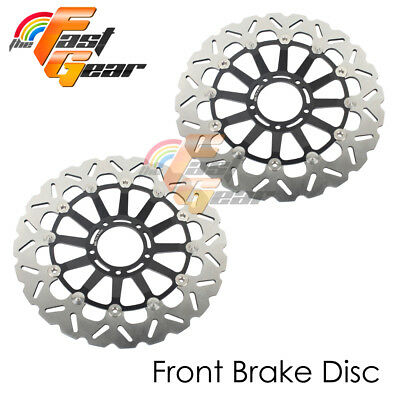 Racing Front Brake Disc Rotor x2 Fit DUCATI 1098 S/R TRICOLORE 2007 2008