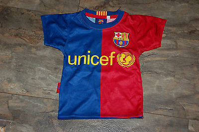 FC BARCELONA FOOTBALL SHIRT - Messi 10, baby size 0, 12-18 months