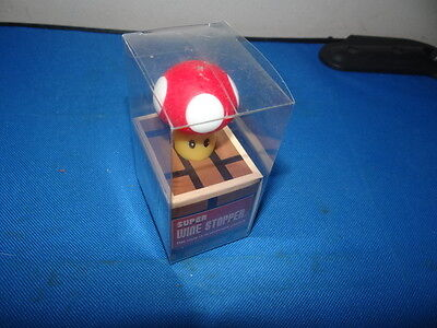 Nerd Block Super Mario Bros. Mushroom Wine Stopper NEW