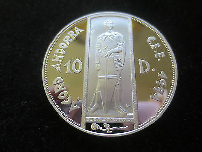 Andorra 10 Diners 1991 Zollunion Sankt Georg Silber PP