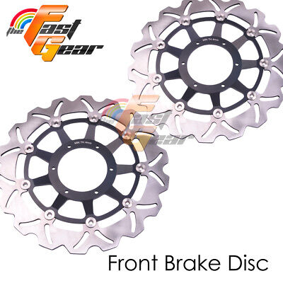 Racing Front Brake Disc Rotor x2 Fit HONDA CBR954 RR 2002 2003 Fireblade 954cc