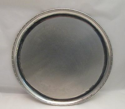A Good Round Vintage Pewter Tray by Keswick