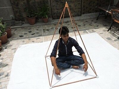 "3 Feet Nubian Pyramid for Healing Meditation with 1/2"" copper tubes + connectors"