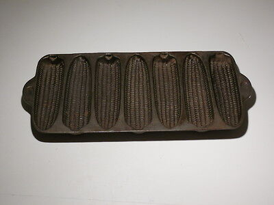Cast Iron 7 Ear Corn Muffin Pan Marked With A D In Two Places On The Back