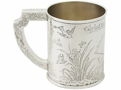 Antique Victorian Sterling Silver Mug - Aesthetic Style