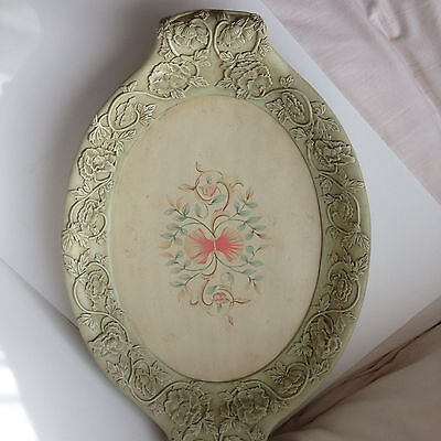 Vintage  Floral Wooden Tray Beautiful Large 25""