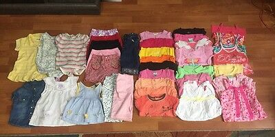 Huge Mixed Lot Girls Clothes 37 Pieces 18 Month Summer