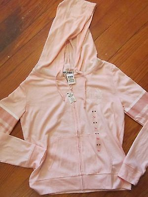 Victoria's Secret Pink Lightweight Zip Front Hoodie~Peach~Size Med~$45.95 Tag