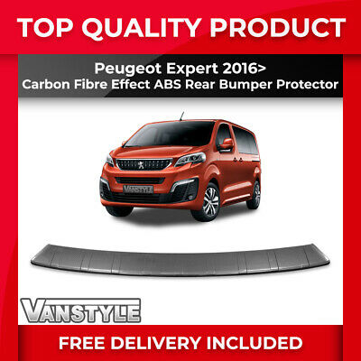 Peugeot Expert & Traveller 2016> Rear Bumper Protector Abs Carbon Protection