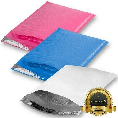 "10 25 50 100 6.5"" x 10"" #0 Colored Self Seal Poly Bubble Mailer Package Envelope"