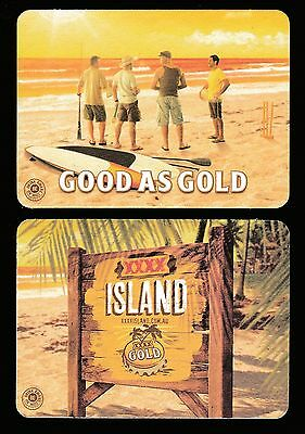 "Beer Coasters Xxxx Gold ""good As Gold"" & ""xxxx Island"" - Brand New #17"