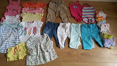 Age 2-3 Girls Summer  Bundle Of Clothes Tops Trousers Shorts Swimsuits 27 items