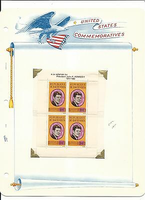Upper Volta, John F. Kennedy Collection on White Ace Pages, #C19a Sheet & Cover