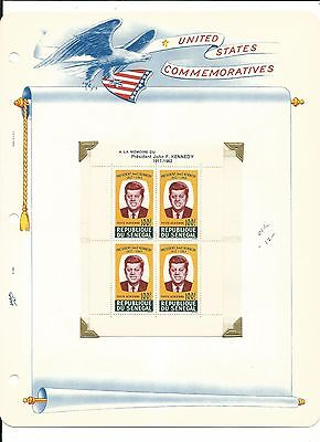 Senegal, John F. Kennedy Collection on White Ace Pages, #C40a Cover & Stamps