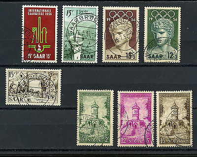 Germany Stamps, Sarr, Sarre - Lote De 5 Series, Alemania 1956