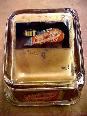 Vintage Baby Ruth Gum Advertising Glass Change Tray Receiver