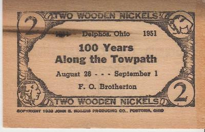 2 Wooden Nickels - Lot 736