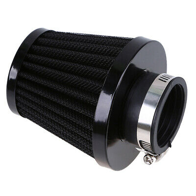 1pcs Cold Adjustable 54mm Air Filter Cleaner Intake Breather Black Motorcycle
