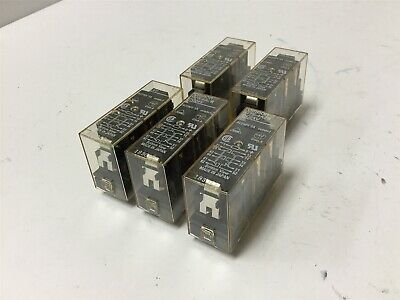 Lot of 5 Omron G7S-4A2B Relays, 4PST-NO DPST, Coil: 24VDC, Rating: 240VAC 3A