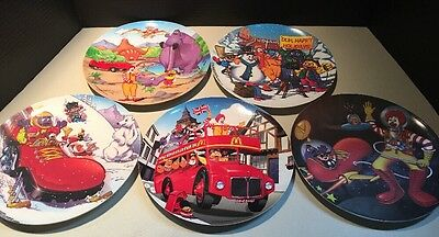 "Lot of 5 McDonalds Plates 2000 2001 9 1/2"" Plastic Collector's Plate"