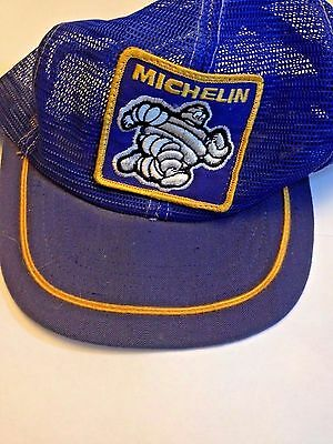Vintage Michelin Man All Mesh Trucker Hat SnapBack Cap embroidered