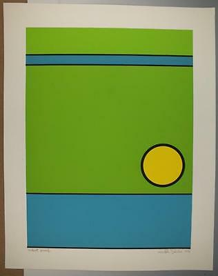Signed Mid Century Geometric Serigraph Print By John Delulio Artist Proof  #3
