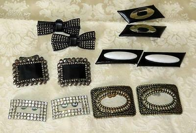 Lot of Vintage & Antique Shoe Clips Steel Bead  ~ Rhinestone ~ Metal +