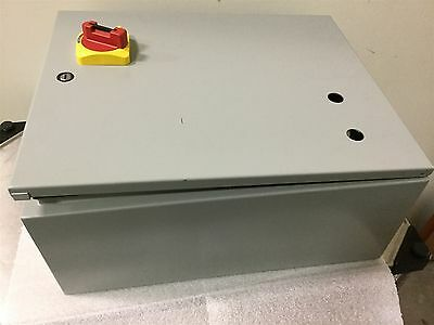 "Hoffman CSD16208 Industrial Electrical Control Enclosure 16"" x 20"" x 8"" w/Panel"