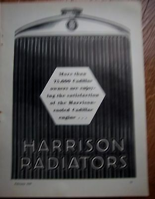 1929 Harrison Radiators for Cadillac Car Owners Ad