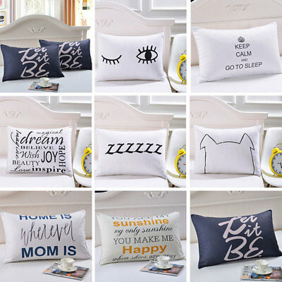 Home Gifts Cushion Cover Bedding Pillow Cases Cotton Wedding Simple Anchor