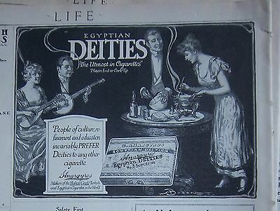 1915 Egyptian Deities Utmost in Cigarettes Ad