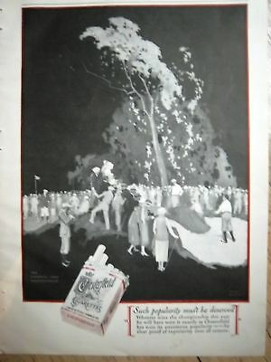 1929 Chesterfield Cigarettes National Golf Open Ad