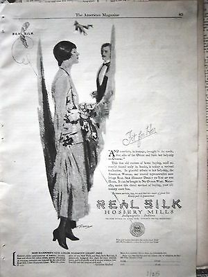 1925 Real Silk Hosiery Mills Stockings Fit for Her Ad