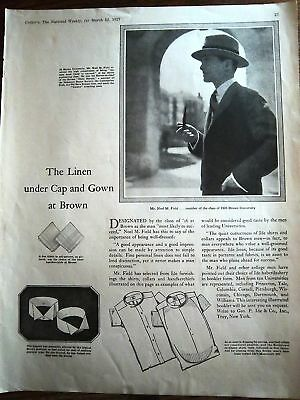 1927 Brown University Cap and Gown Fashion Clothing Ad