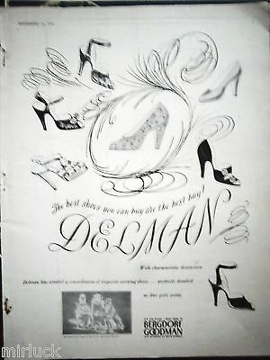 1948 Vintage Delman Womens Shoes at Bergdorf Goodman Stores Ad