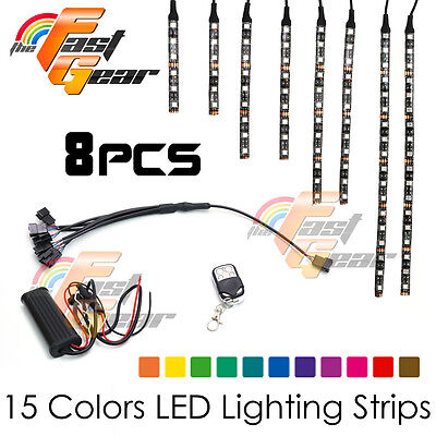 Motorclcyes LED Lighting LED Light Strip RGB x8 For KTM Motorcycles