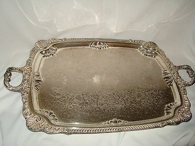 Extremely Large Silver Serving Tray 1955 English Silver Mfg Co Brooklyn Ny