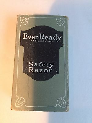 Ever-Ready Safety Razor Antique New in Box w advertisements