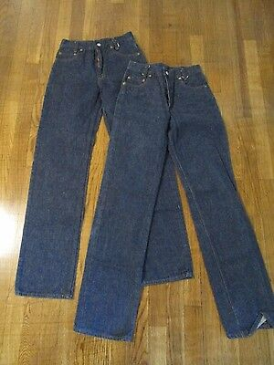 VTG LOT OF 2 80's Levi's Jeans Denim Zip Fly 302-0117 ACT 25 X 31 TAG 26 X 34