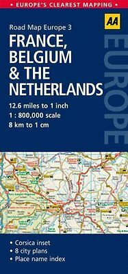 3. France, Belgium & the Netherlands AA Road Map Europe 9780749575311