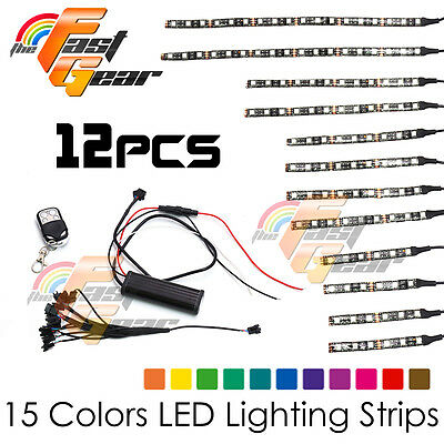 Motorclcyes LED Lighting Flexible LED Light Strip RGB Kit For Suzuki