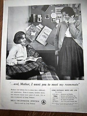 1962 Bell Telephone System College Roommates Ad