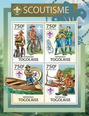 Togo - Boy Scouts on Stamps - 4 Stamp Sheet - 20H-611