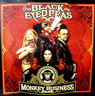 "Black Eyed Peas ""Monkey Business""  2005 HUGE WALL PROMO POSTER 4-ft sq WOW"