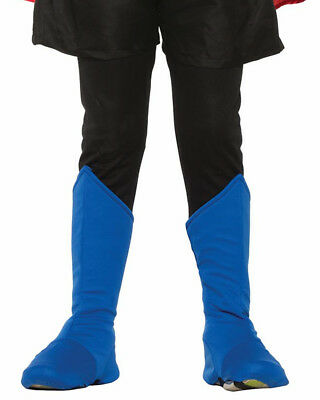 Child's Be Your Own Superhero Super Hero Blue Boot Tops Costume Accessory