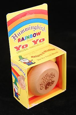 Hummingbird Wooden YoYo Rainbow Series The Nature Company Trick Book included