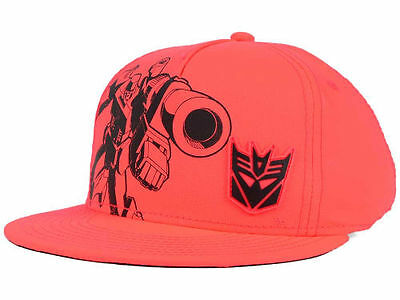 Transformers Tech Decepticon Snapback Hat Cap in Safety Orange Kids Youth Size