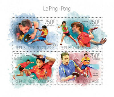 Togo 2013 -  Table Tennis Contenders & Champions 4 Stamp Sheet 20H-784