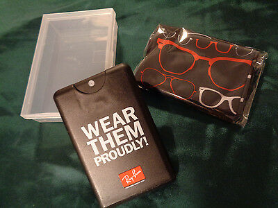 Ray Ban Cleaning Kit Promo - Cloth and Solution in Protective Case BRAND NEW